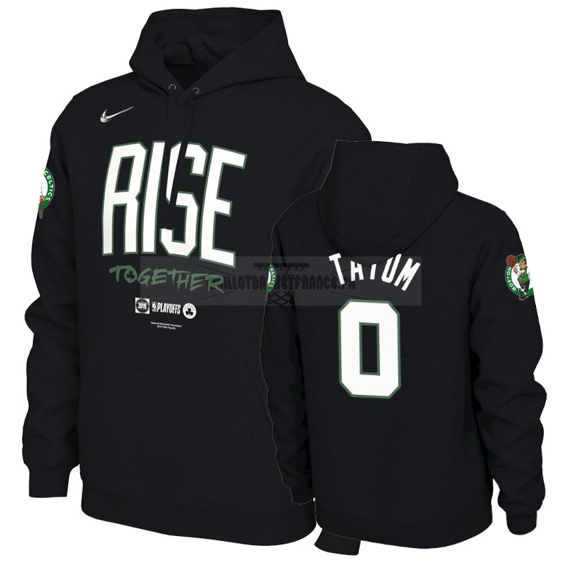 Meilleur Hoodies NBA Boston Celtics NO.0 Jayson Tatum Noir