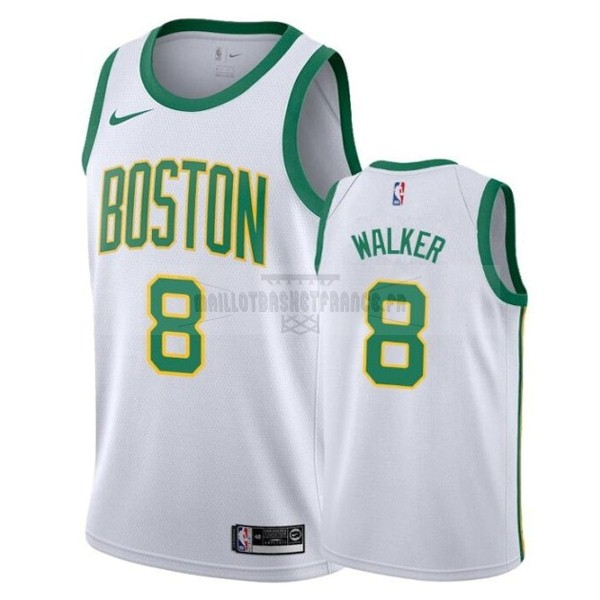 Meilleur Maillot NBA Enfant Boston Celtics NO.8 Kemba Walker Blanc Ville 2019-20