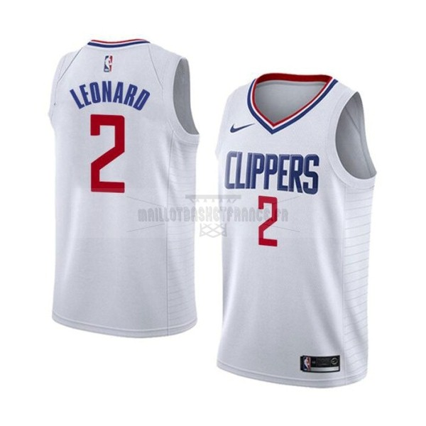 Meilleur Maillot NBA Nike Los Angeles Clippers NO.2 Kawhi Leonard Blanc Association 2019-20