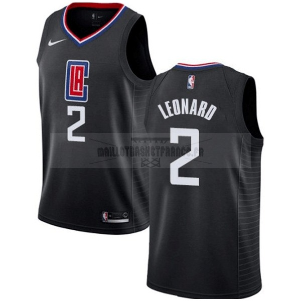 Meilleur Maillot NBA Nike Los Angeles Clippers NO.2 Kawhi Leonard Noir Statement 2019-20