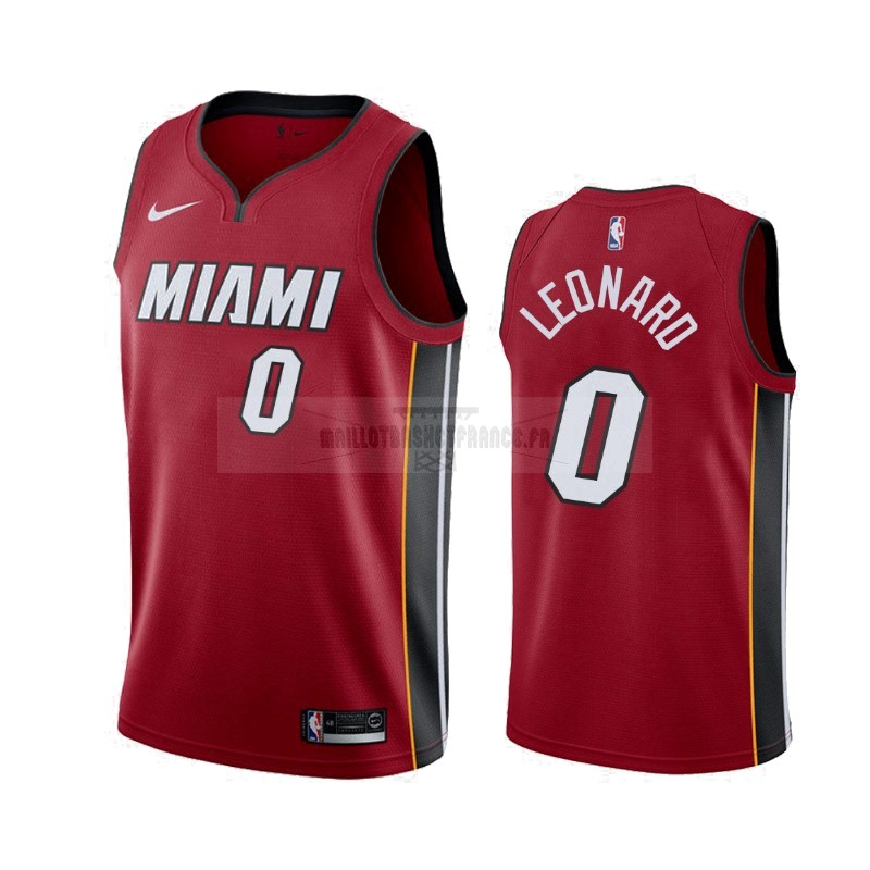 Meilleur Maillot NBA Nike Miami Heat NO.0 Meyers Leonard Rouge Statement 2019-20