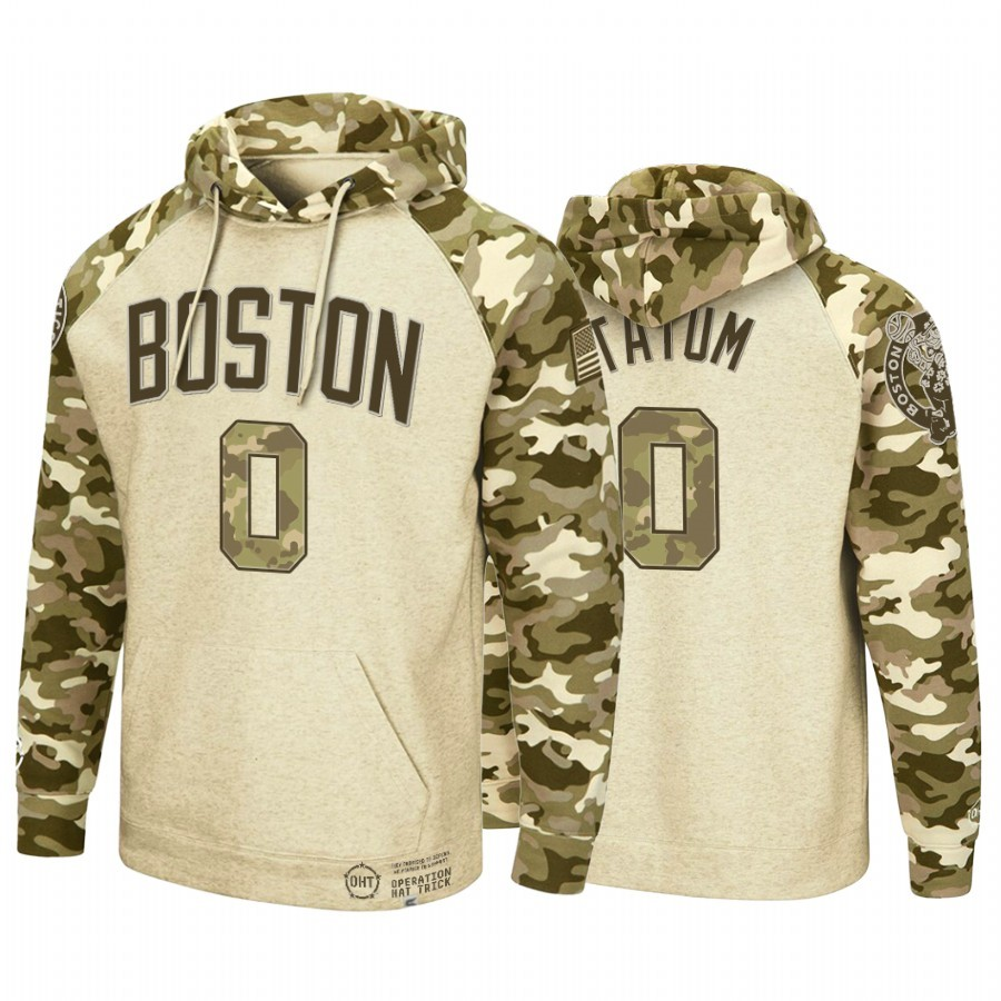 Hoodies NBA Boston Celtics NO.0 Jayson Tatum camo