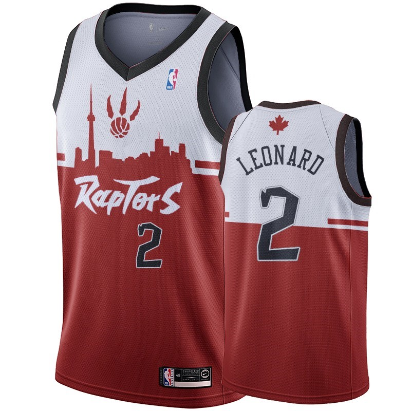 Maillot NBA Nike Toronto Raptors NO.2 Kawhi Leonard Rouge Hometown Collection