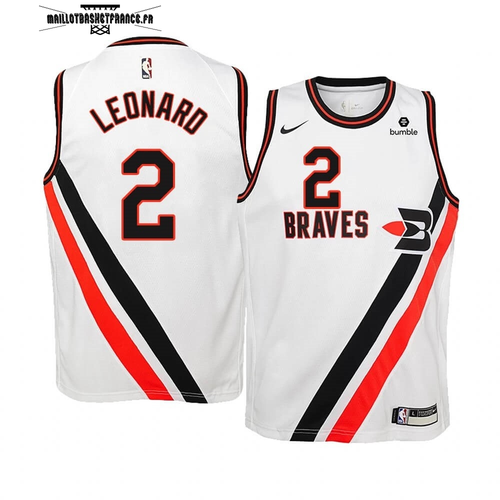 Meilleur Maillot NBA Enfant Earned Edition Los Angeles Clippers NO.2 Kawhi Leonard Blanc