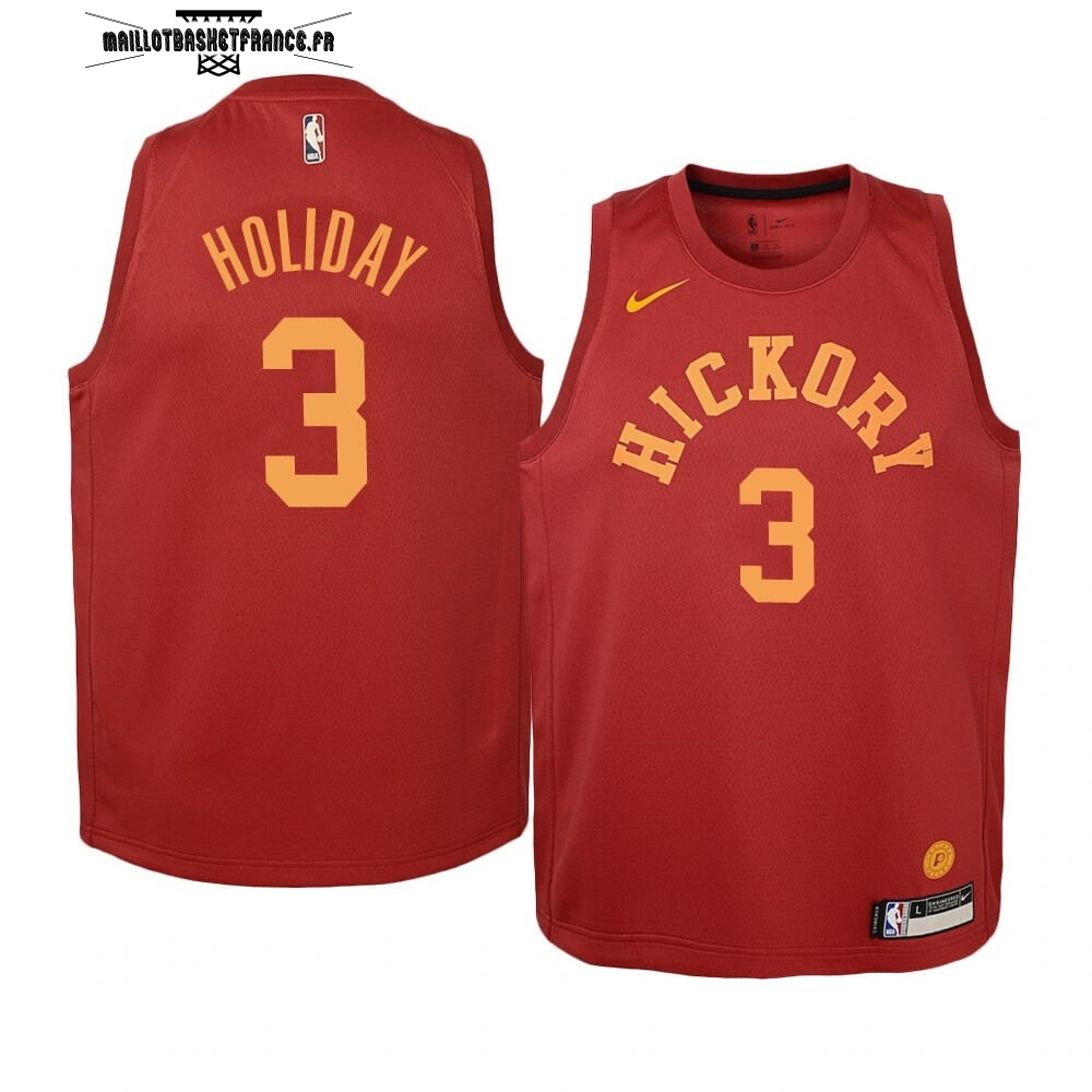 Meilleur Maillot NBA Enfant Indiana Pacers NO.3 Aaron Holiday Nike Retro Bordeaux