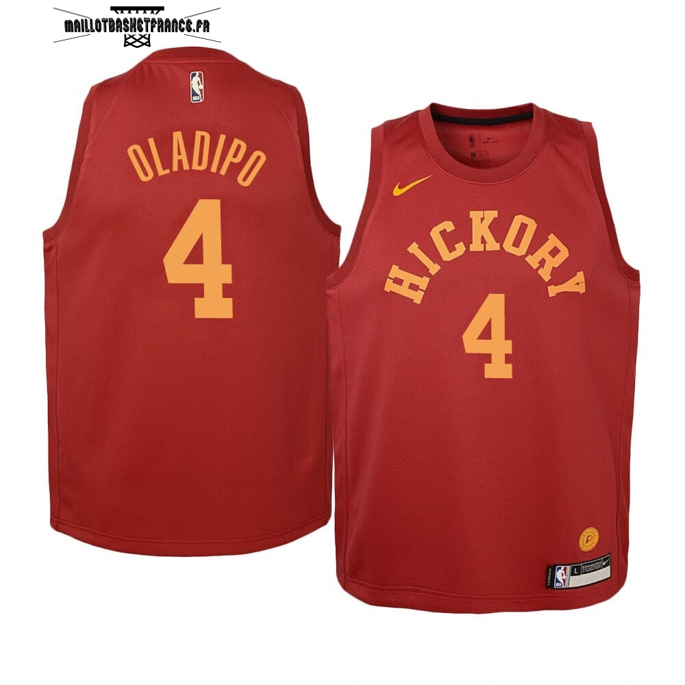 Meilleur Maillot NBA Enfant Indiana Pacers NO.4 Victor Oladipo Nike Retro Bordeaux