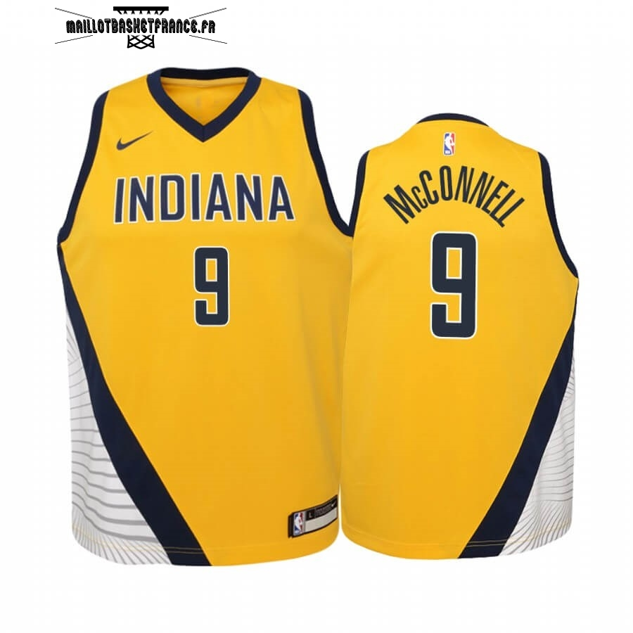 Meilleur Maillot NBA Enfant Indiana Pacers NO.8 Justin Holiday Jaune Statement 2019-20