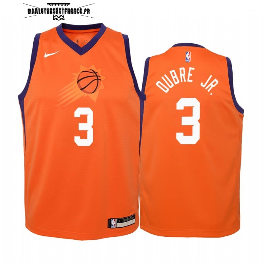 Meilleur Maillot NBA Enfant Phoenix Suns NO.3 Kelly Oubre Jr. Orange Statement 2019-20