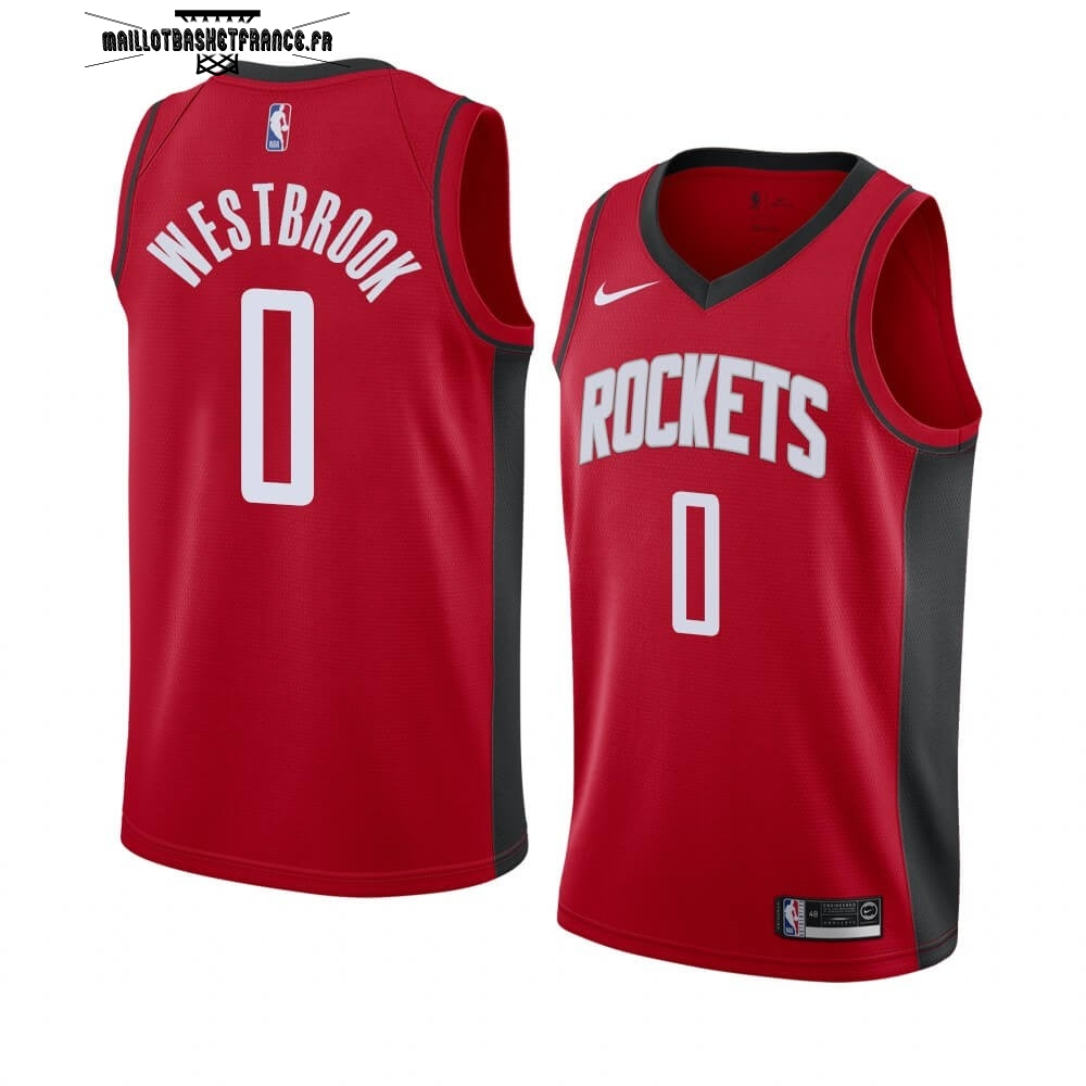 Meilleur Maillot NBA Nike Houston Rockets NO.0 Russell Westbrook Rouge Icon 2019-20