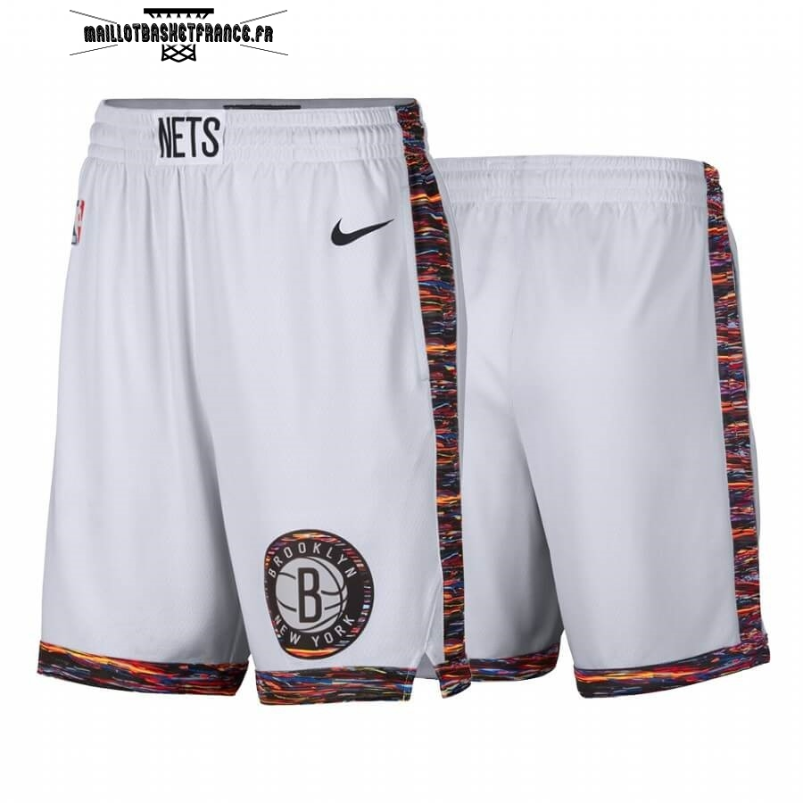 Meilleur Short Basket Brooklyn Nets Nike Blanc Ville 2019-20