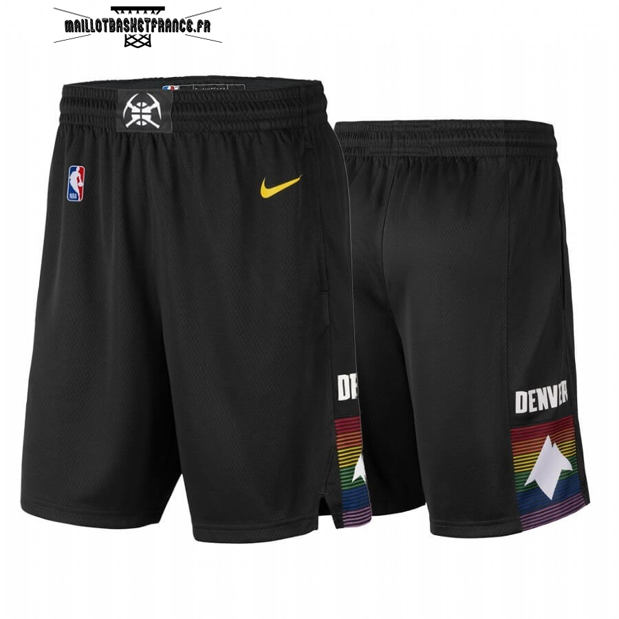 Meilleur Short Basket Denver Nuggets Nike Noir Ville 2019-20
