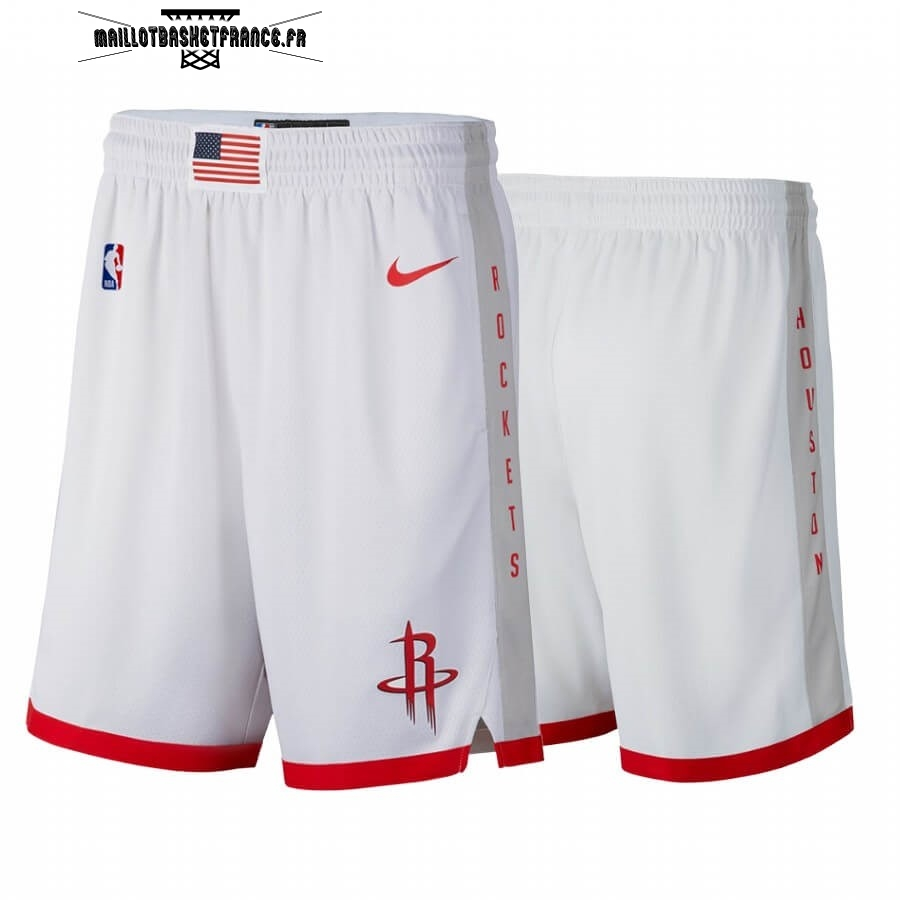 Meilleur Short Basket Houston Rockets Nike Blanc Ville 2019-20
