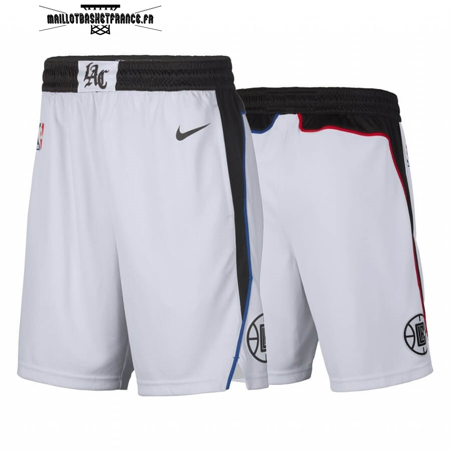 Meilleur Short Basket Los Angeles Clippers Nike Blanc Ville 2019-20