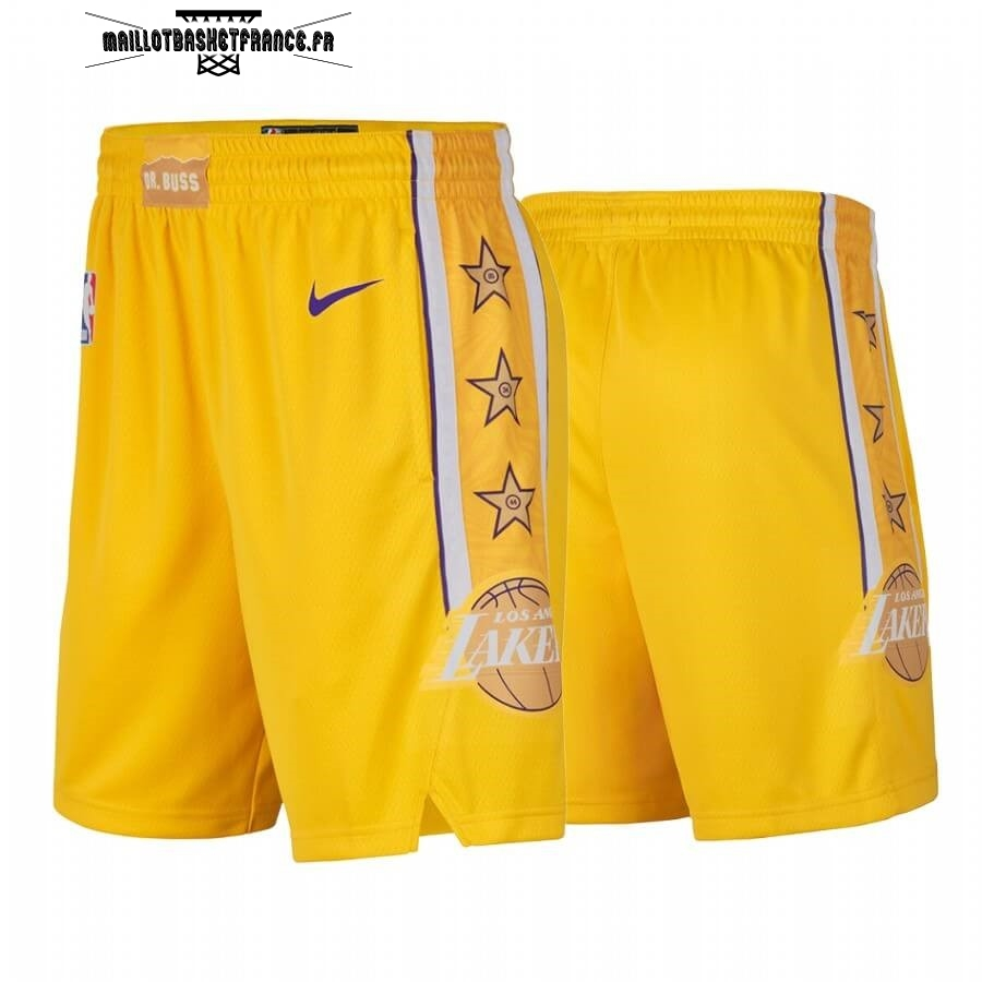 Meilleur Short Basket Los Angeles Lakers Nike Jaune Ville 2019-20