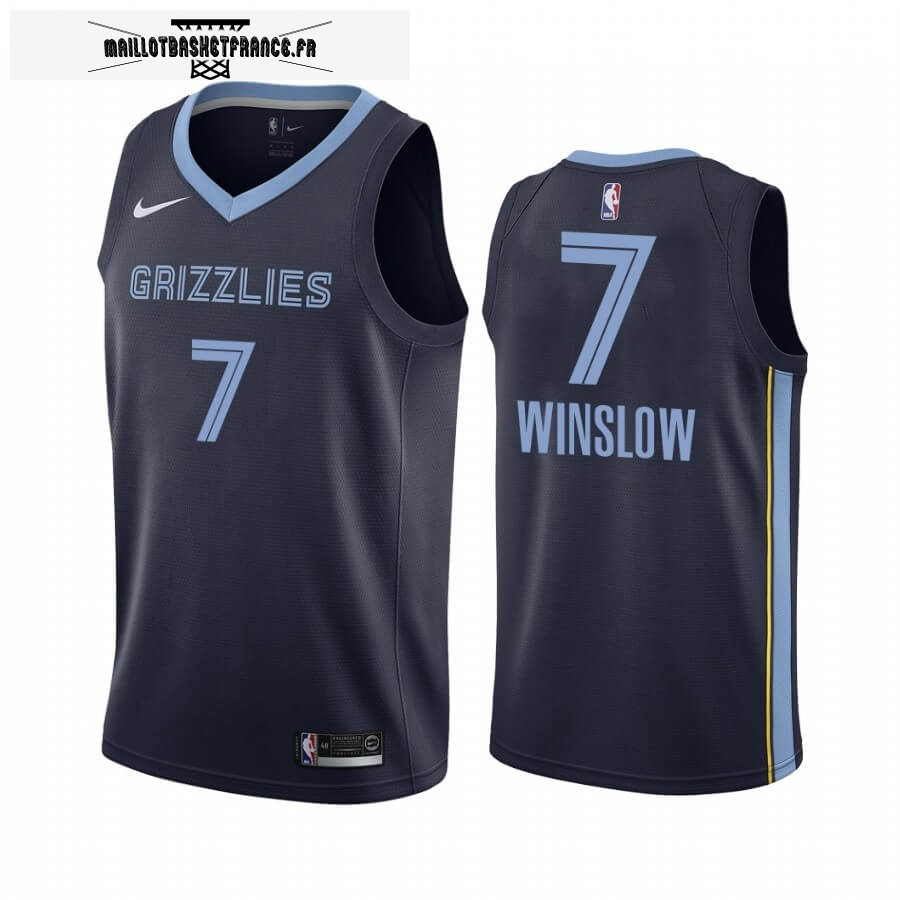 Maillot NBA Nike Menphis Grizzlies NO.7 Justise Winslow Marine Icon 2019-20