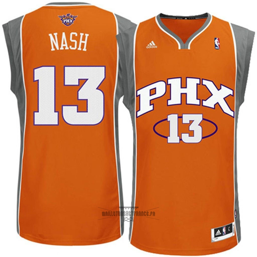 Meilleur Maillot NBA Phoenix Suns NO.13 Steve Nash Orange