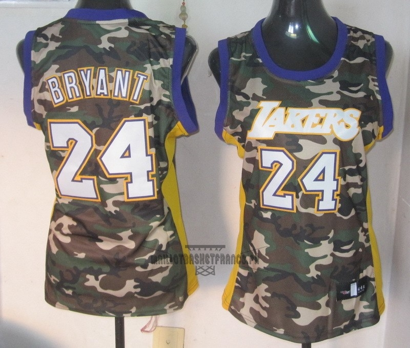 Meilleur Maillot NBA Femme 2013 Camouflage Fashion NO.24 Bryant