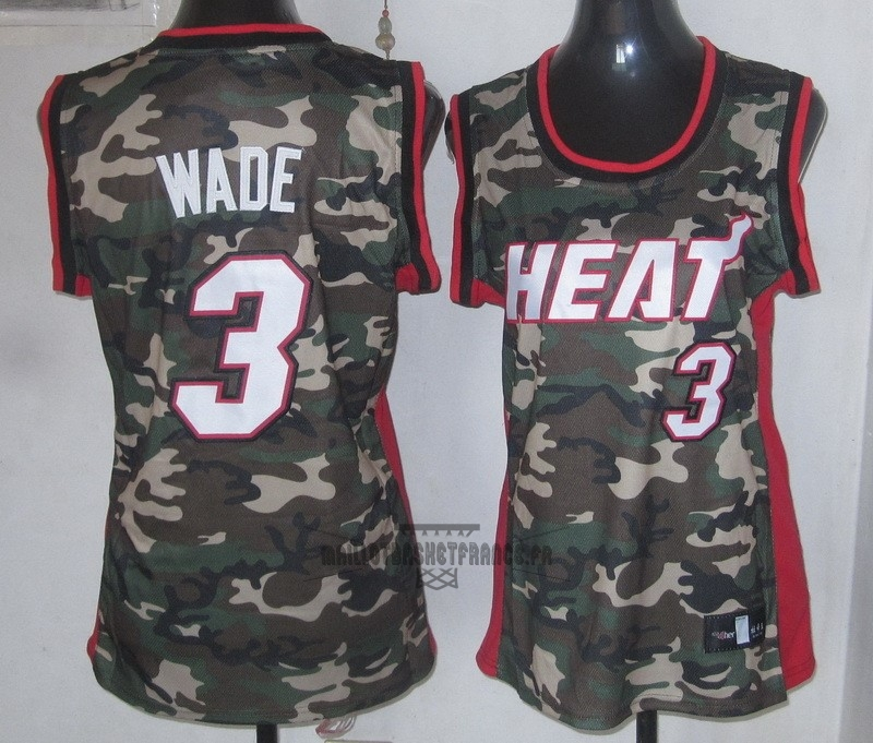 Meilleur Maillot NBA Femme 2013 Camouflage Fashion NO.3 Wade