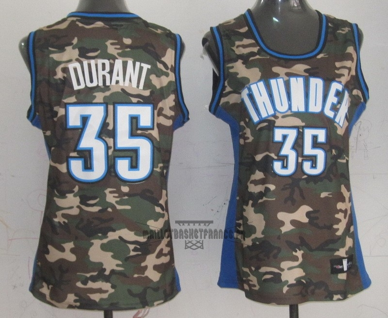 Meilleur Maillot NBA Femme 2013 Camouflage Fashion NO.35 Kevin Durant