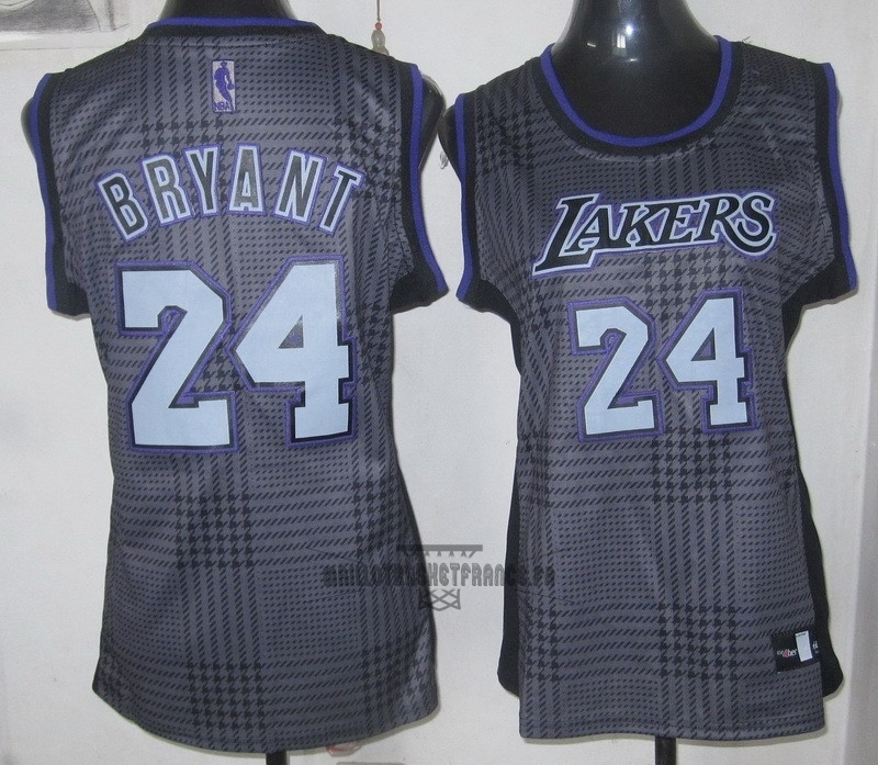 Meilleur Maillot NBA Femme 2013 Static Fashion NO.24 Kobe Bryant Pourpre