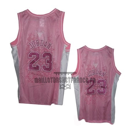 Meilleur Maillot NBA Femme Chicago Bulls NO.23 Michael Jordan Rose