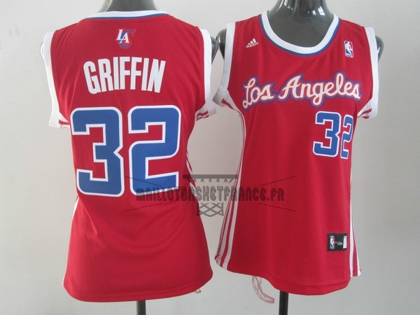Meilleur Maillot NBA Femme Los Angeles Clippers NO.32 Blake Griffin Rouge