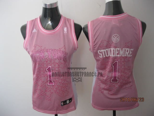Meilleur Maillot NBA Femme New York Knicks NO.1 Amar'e Stoudemire Rose