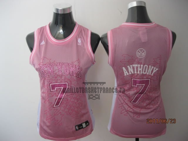 Meilleur Maillot NBA Femme New York Knicks NO.7 Carmelo Anthony Rose