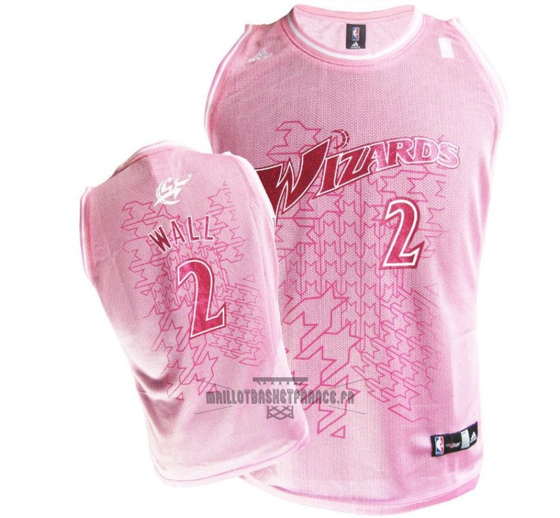 Meilleur Maillot NBA Femme Washington Wizards NO.2 John Wall Rose
