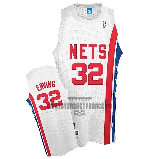 Meilleur Maillo ABA Brooklyn Nets NO.32 Erving Blanc