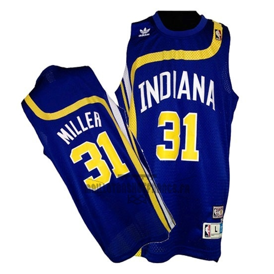 Meilleur Maillo ABA Indiana Pacers NO.31 Miller Bleu
