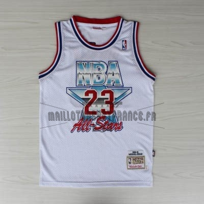 Meilleur Maillot NBA 1992 All Star NO.23 Michael Jordan Blanc