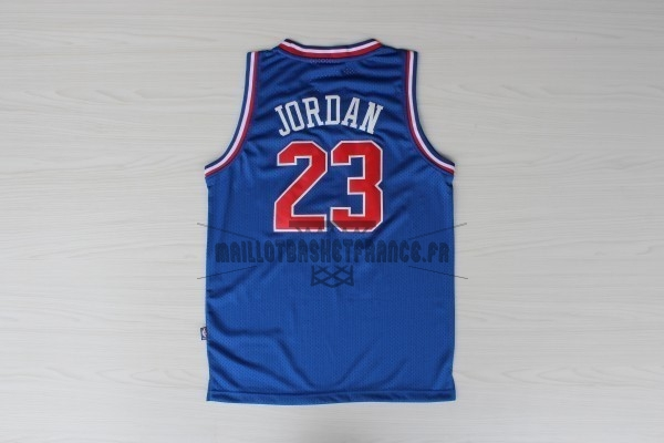 Meilleur Maillot NBA 1992 All Star NO.23 Michael Jordan Bleu