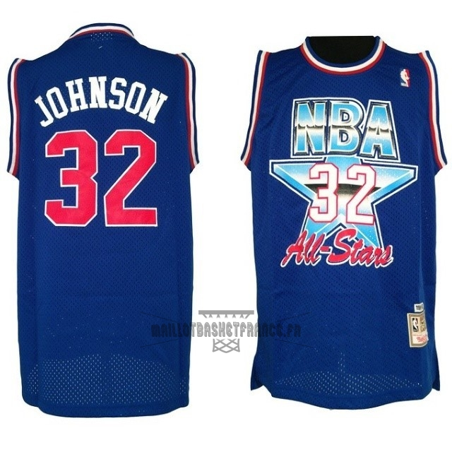 Meilleur Maillot NBA 1992 All Star NO.32 Joe Johnson Bleu
