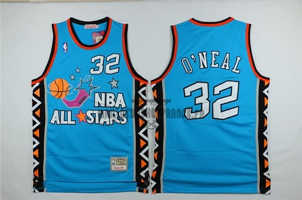 Meilleur Maillot NBA 1996 All Star NO.32 Shaquille O'Neal Bleu