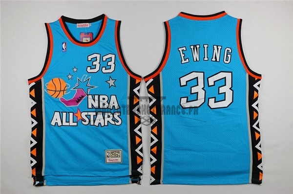 Meilleur Maillot NBA 1996 All Star NO.33 Patrick Ewing Bleu