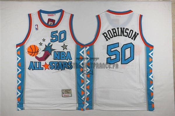 Meilleur Maillot NBA 1996 All Star NO.50 David Robinson Blanc