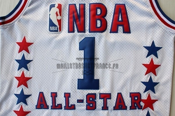 Meilleur Maillot NBA 2003 All Star NO.1 Tracy McGrady Blanc
