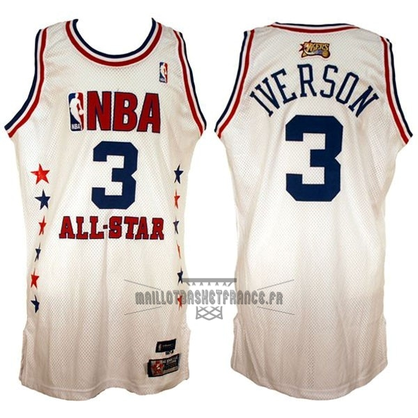 Meilleur Maillot NBA 2003 All Star NO.3 Allen Iverson Blanc