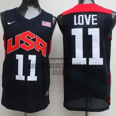 Meilleur Maillot NBA 2012 USA NO.11 Kevin Love Noir