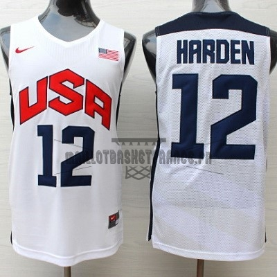 Meilleur Maillot NBA 2012 USA NO.12 James Harden Blanc