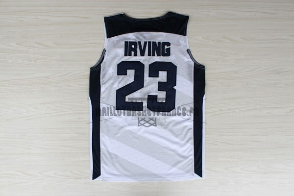 Meilleur Maillot NBA 2012 USA NO.23 Kyrie Irving Blanc