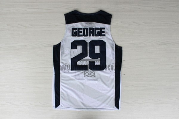Meilleur Maillot NBA 2012 USA NO.29 Paul George Blanc