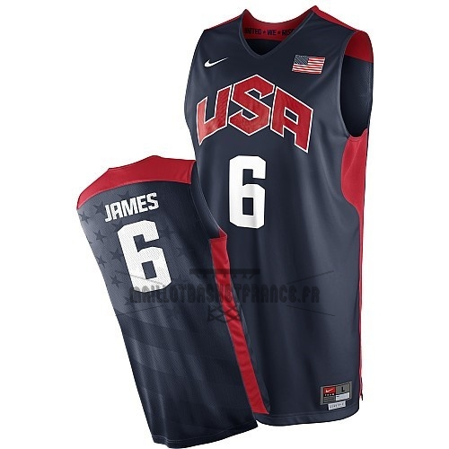 Meilleur Maillot NBA 2012 USA NO.6 James Noir
