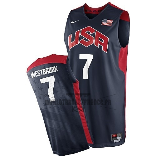 Meilleur Maillot NBA 2012 USA NO.7 Westbrook Noir