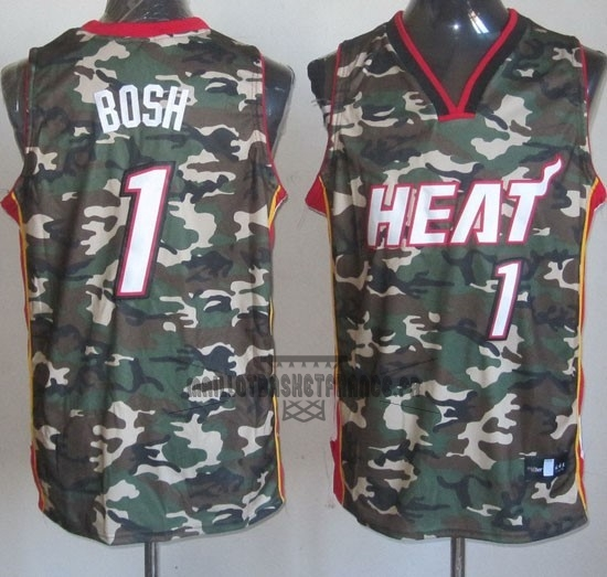 Meilleur Maillot NBA 2013 Camouflage Fashion NO.1 Bosh