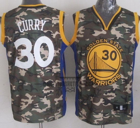Meilleur Maillot NBA 2013 Camouflage Fashion NO.30 Curry