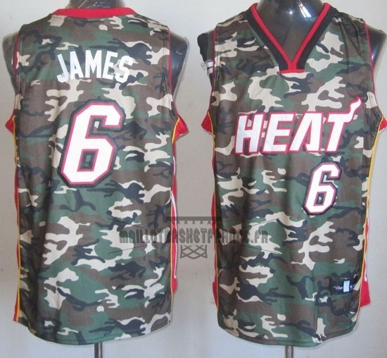 Meilleur Maillot NBA 2013 Camouflage Fashion NO.6 James