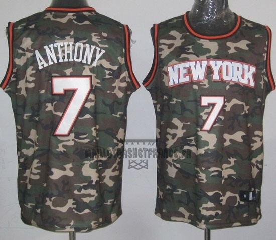 Meilleur Maillot NBA 2013 Camouflage Fashion NO.7 Anthony