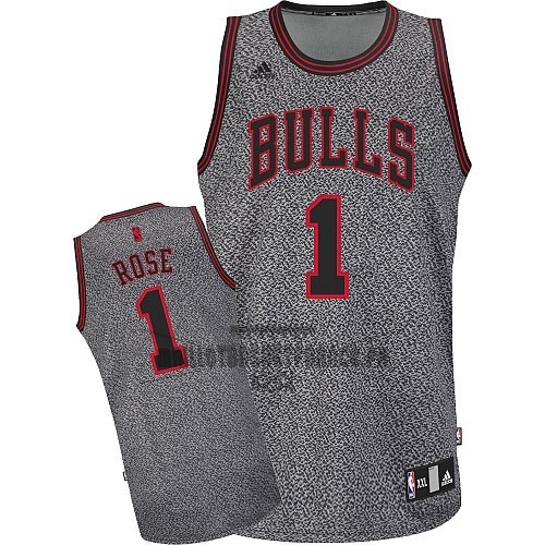 Meilleur Maillot NBA 2013 Static Fashion Chicago Bulls NO.1 Rose